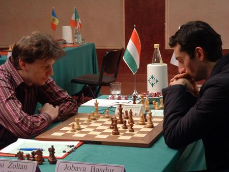 L'ungherese Zoltan Almasi, numero uno di tabellone, contro il georgiano Baadur Jobava