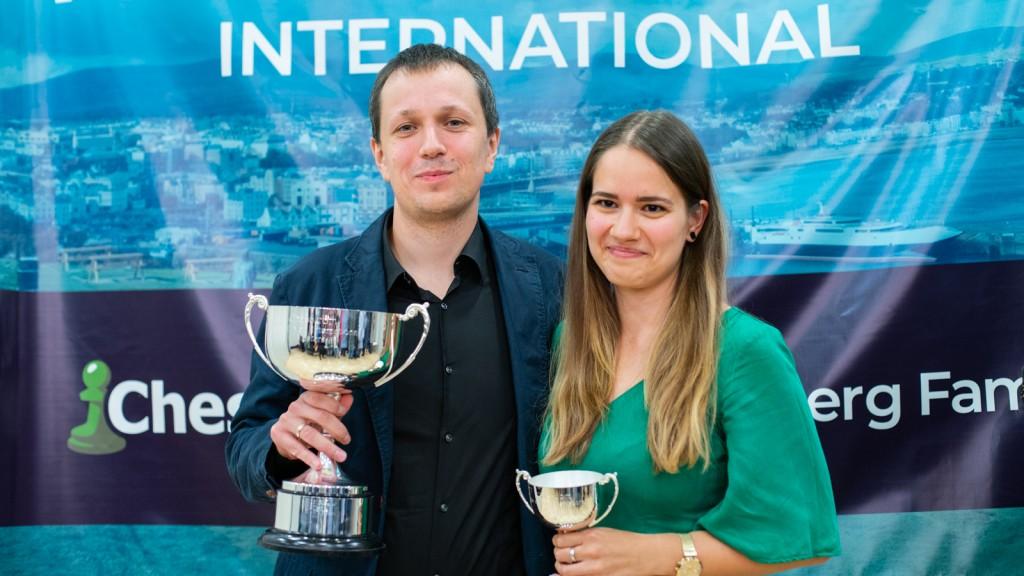 Radoslaw Wojtaszek e la moglie Alina Kashlinskaya (photo by Maria Emelianova)